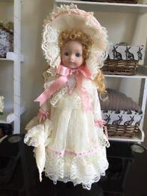 Pair of porcelain dolls