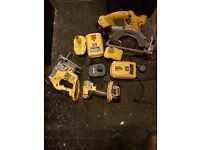 For sale 18v dewalt set