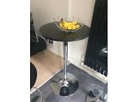 Bar stool set round table and 2 chairs