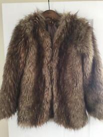MISGUIDED Fur coat UK8