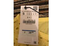Zara yellow top SMALL BRAND NEW