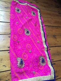 Pink Saree brand new!