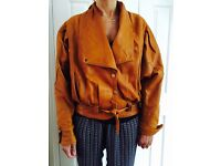 Beautiful tan colour ladies leather jacket