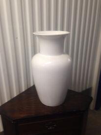 Large White Vase - used originally for Christmas display