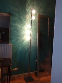Floor lamp with 5 lights & sliding dimmer