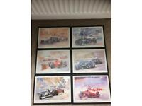 Set of 6 exclusive edition prints from the original paintings by Craig warwick