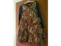 Cake walk girls dress age 5yrs complete with tights
