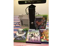 X Box 360 with Kinect and 4 games