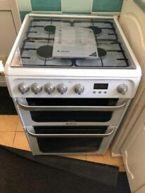 Hotpoint Ultima HUG61P Gas Cooker with Gas Grill - White