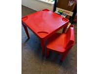 Child play table & chair set (ELC)