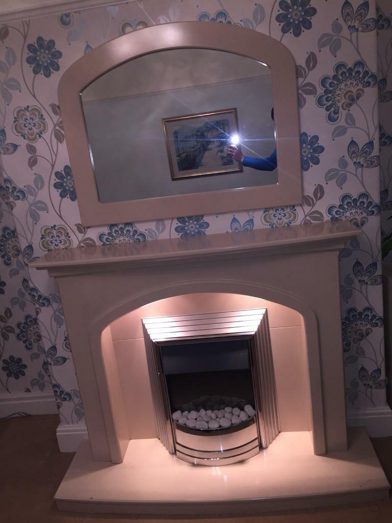 Fire place fireplace mirror etc