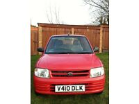 Daihatsu cuore 1.0 litre automatic genuine low mileage 15,000 only. S/H, PAS, Mot, drives perfect,