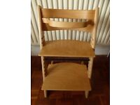 Tripp Trapp high chair with cushion in natural beech