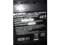 "Sony Bravia 40"" television with stand"