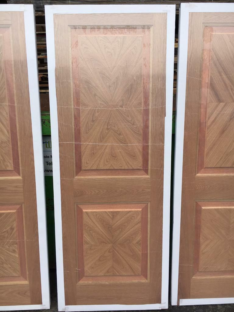 Brand new pre finished oak Rhodes doors for sale