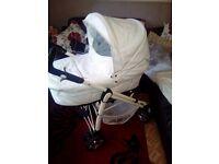 White leather pram/ pushchairs