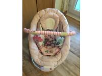 Mothercare pink vibrating chair