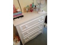 Solid wood wardrobe bedside cabinet and draws