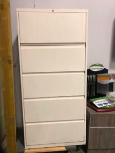 "Haworth 5 Drawer Lateral Files - 30""Wide - $325"
