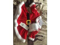 Mrs Santa Claus baby outfit 0-3mths