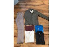 Men's clothes bundle large and xl and 34. Jack jones,Hollister,topshop. Jeans,jacket,tshirts.