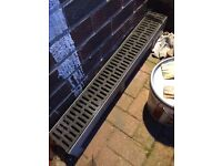 Aco drainage 1 meter section with plastic cover £10
