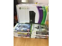 XBox 360 boxed with 14 games