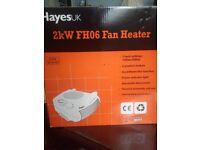 Hayes 2kW White Fan Heater - Model: FH06 - £3