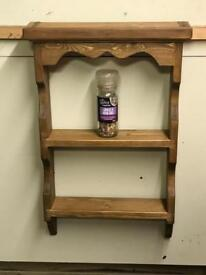 13 jar hand crafted solid pine spice rack