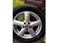 Peugeot XS E7 taxi alloy wheel and tyre