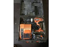AEG drill with battery and charger