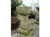 Antique vintage hand carved stone bird bath ornament table pot 3 bird baths in total