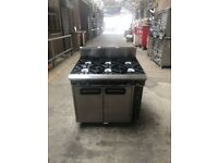 Blue Seal 6 Burner Gas cooker with Oven (Takeaway, Restaurant)