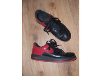 Nike Air (Air Force 1 '82): Black/red low-top Trainers - Size UK10 (Eur45/US 11)