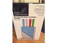 Chefs Companion Mini Handled Index Chopping Boards BNIB