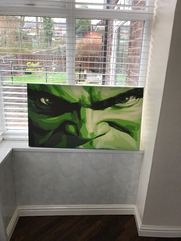 Canvas Picturein Denton, ManchesterGumtree - This canvas of THE HULK would look great on a childs bedroom wall Size 20 inches x 36 inches In excellent condition Cost £55.00 ABSOLUTE BARGAIN PICK UP ONLY