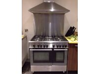 Kenwood Stainless Steel Gas Cooker + Stainless Steel Extractor - LOCAL FREE DELIVERY