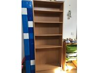 Large beech effect bookcase ideal for office or child's bedroom storage