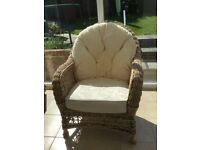Cane wicker conservatory chairs