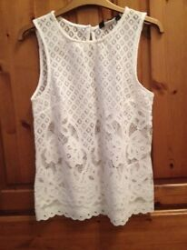 New Look white lace top