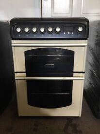 Cannon dual fuel gas cooker C60DTC 60cm cream double oven 3 months warranty free local delivery!!!!!