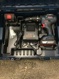 Bosch Professional GSB 18-2-LI Plus Hammer Drill with Two 18 V 2.0 Ah Lithium - L-Boxx