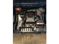 Bosch Professional GSB 18-2-LI Plus Hammer Drill with Two 18 V 2.0 Ah Lithium - L-Boxx