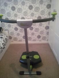 TWIST AND SHAPE FITNESS MACHINE AS NEW WITH DVD AND CHART
