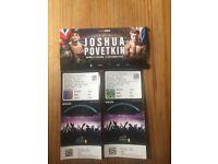 Anthony Joshua x 2 tickets - Boxing Wembley