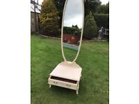 Italian style cheval mirror with drawer ( can deliver )