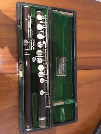 Antique wooden flute in perfect condition