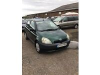 Toyota Yaris in very clean condition lovely driver in lovely green drives superb ideal first car