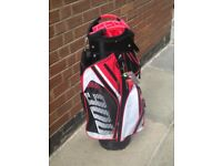 Brand new Masters T900 trolley bag in black, red and white