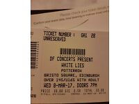 White Lies Tickets x 2